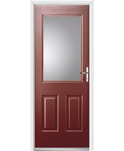 Ultimate Windsor Rockdoor in Ruby Red with Glazing
