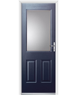 Ultimate Windsor Rockdoor in Sapphire Blue with Glazing