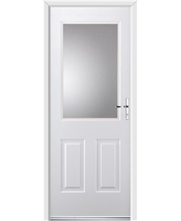Ultimate Windsor Rockdoor in White with Glazing