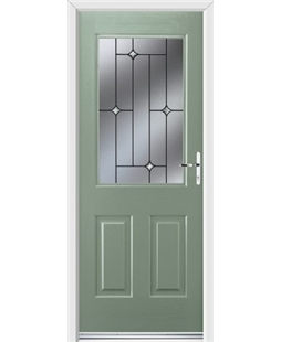 Ultimate Windsor Rockdoor in Chartwell Green with Crystal Bevel