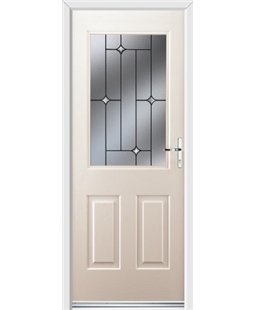 Ultimate Windsor Rockdoor in Cream with Crystal Bevel
