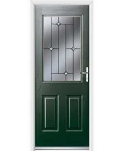 Ultimate Windsor Rockdoor in Emerald Green with Crystal Bevel