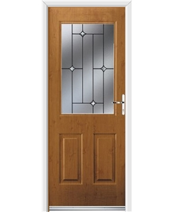 Ultimate Windsor Rockdoor in Irish Oak with Crystal Bevel