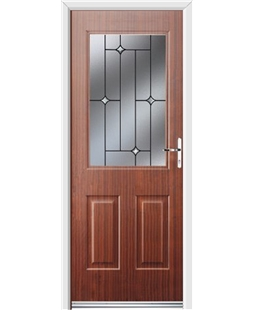 Ultimate Windsor Rockdoor in Mahogany with Crystal Bevel