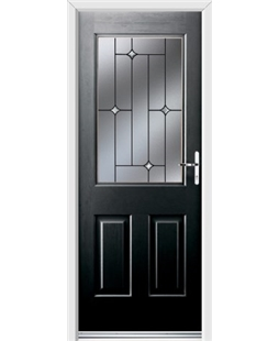 Ultimate Windsor Rockdoor in Onyx Black with Crystal Bevel