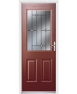 Ultimate Windsor Rockdoor in Ruby Red with Crystal Bevel