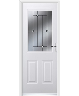 Ultimate Windsor Rockdoor in White with Crystal Bevel