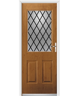 Ultimate Windsor Rockdoor in Irish Oak with Diamond Lead