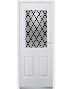 Ultimate Windsor Rockdoor in Blue White with Diamond Lead