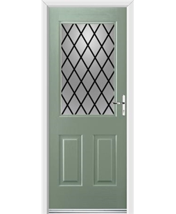 Ultimate Windsor Rockdoor in Chartwell Green with Diamond Lead