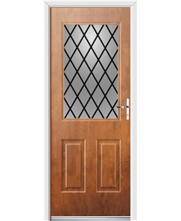 Ultimate Windsor Rockdoor in Light Oak with Diamond Lead