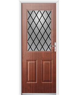 Ultimate Windsor Rockdoor in Mahogany with Diamond Lead