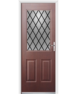 Ultimate Windsor Rockdoor in Rosewood with Diamond Lead