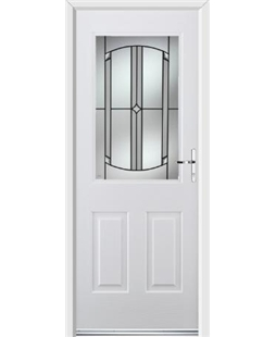 Ultimate Windsor Rockdoor in Blue White with Ellipse Glazing