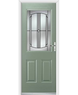 Ultimate Windsor Rockdoor in Chartwell Green with Ellipse Glazing