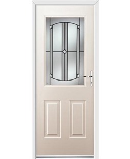 Ultimate Windsor Rockdoor in Cream with Ellipse Glazing