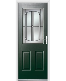 Ultimate Windsor Rockdoor in Emerald Green with Ellipse Glazing