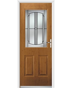 Ultimate Windsor Rockdoor in Irish Oak with Ellipse Glazing
