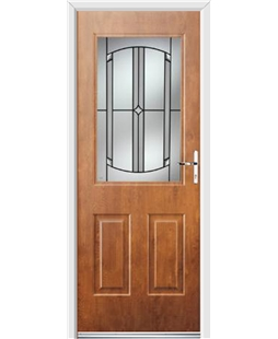 Ultimate Windsor Rockdoor in Light Oak with Ellipse Glazing