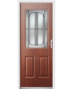Ultimate Windsor Rockdoor in Mahogany with Ellipse Glazing