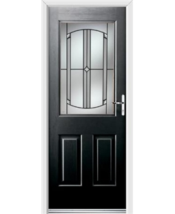 Ultimate Windsor Rockdoor in Onyx Black with Ellipse Glazing