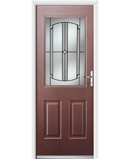 Ultimate Windsor Rockdoor in Rosewood with Ellipse Glazing