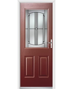 Ultimate Windsor Rockdoor in Ruby Red with Ellipse Glazing