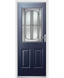 Ultimate Windsor Rockdoor in Sapphire Blue with Ellipse Glazing