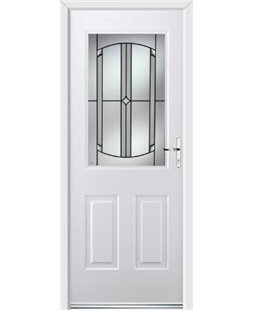 Ultimate Windsor Rockdoor in White with Ellipse Glazing