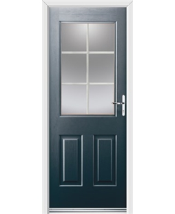 Ultimate Windsor Rockdoor in Anthracite Grey with White Georgian Bar