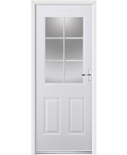 Ultimate Windsor Rockdoor in Blue White with White Georgian Bar
