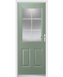 Ultimate Windsor Rockdoor in Chartwell Green with White Georgian Bar