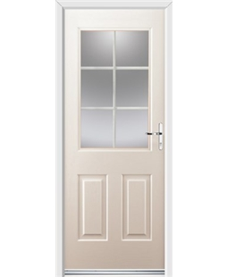 Ultimate Windsor Rockdoor in Cream with White Georgian Bar