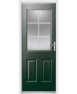 Ultimate Windsor Rockdoor in Emerald Green with White Georgian Bar