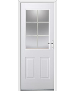 Ultimate Windsor Rockdoor in White with White Georgian Bar