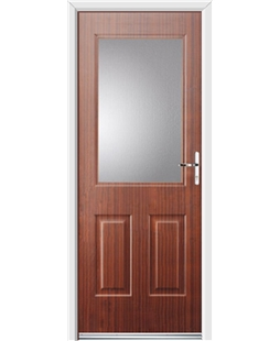 Ultimate Windsor Rockdoor in Mahogany with Glazing