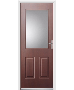 Ultimate Windsor Rockdoor in Rosewood with Glazing