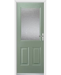 Ultimate Windsor Rockdoor in Chartwell Green with Gluechip Glazing