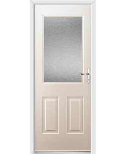 Ultimate Windsor Rockdoor in Cream with Gluechip Glazing