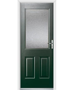 Ultimate Windsor Rockdoor in Emerald Green with Gluechip Glazing
