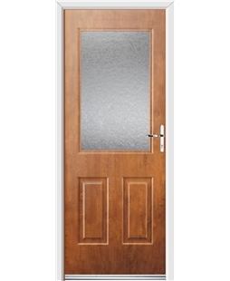Ultimate Windsor Rockdoor in Light Oak with Gluechip Glazing