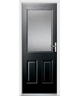 Ultimate Windsor Rockdoor in Onyx Black with Gluechip Glazing