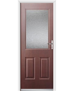 Ultimate Windsor Rockdoor in Rosewood with Gluechip Glazing