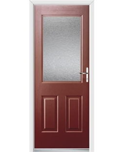 Ultimate Windsor Rockdoor in Ruby Red with Gluechip Glazing