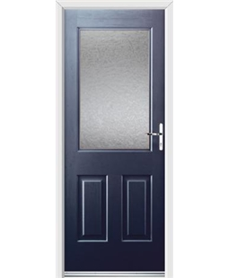 Ultimate Windsor Rockdoor in Sapphire Blue with Gluechip Glazing