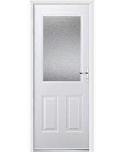 Ultimate Windsor Rockdoor in White with Gluechip Glazing