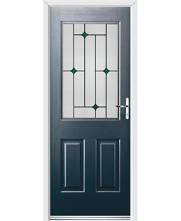 Ultimate Windsor Rockdoor in Anthracite Grey with Green Diamonds