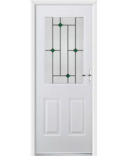 Ultimate Windsor Rockdoor in Blue White with Green Diamonds