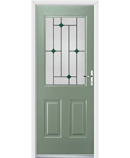 Ultimate Windsor Rockdoor in Chartwell Green with Green Diamonds