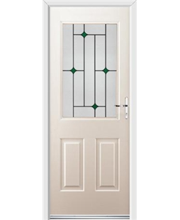 Ultimate Windsor Rockdoor in Cream with Green Diamonds